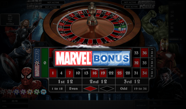 Marvel Roulette Playtech
